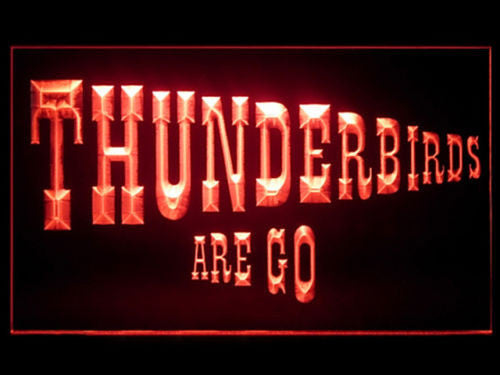 Thunderbirds Are Go LED Sign - Red - TheLedHeroes