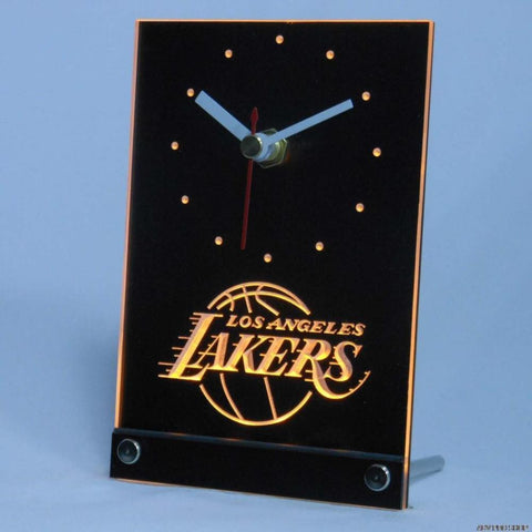 LA Lakers LED Desk Clock - Yellow - TheLedHeroes