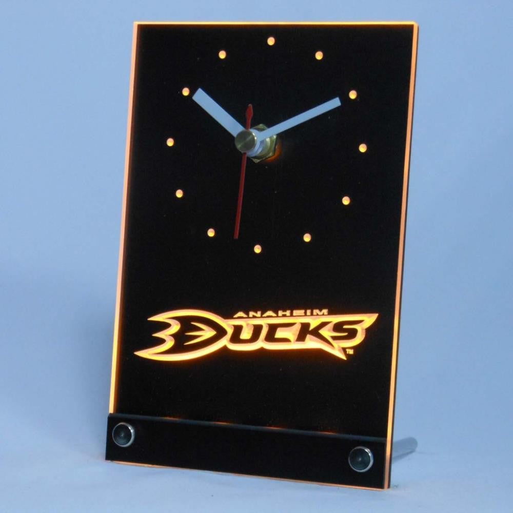 Anaheim Ducks Desk LED Clock - Yellow - TheLedHeroes