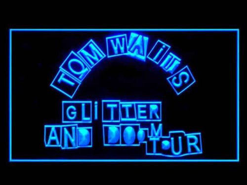 Tom Waits Glitter and Doom Tour LED Sign - Blue - TheLedHeroes