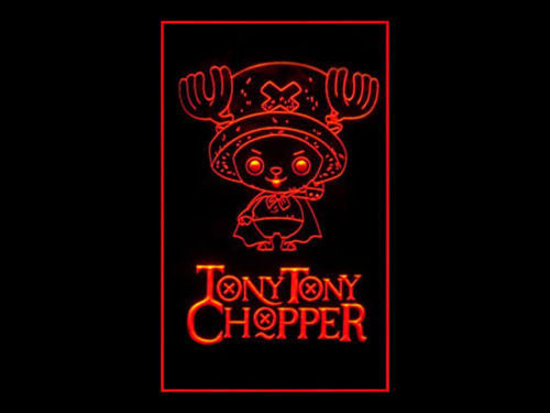 Tony Tony Chopper LED Sign - Red - TheLedHeroes