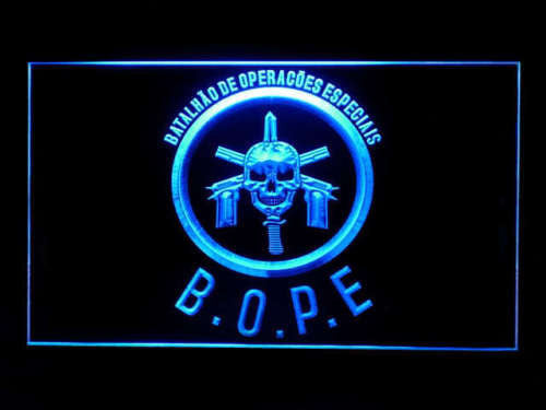 Tropa De Elite Bope LED Sign - Blue - TheLedHeroes
