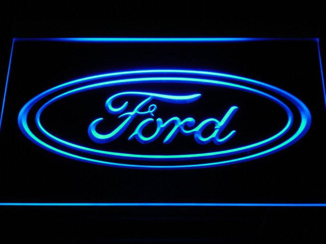 Ford LED Sign - Blue - TheLedHeroes