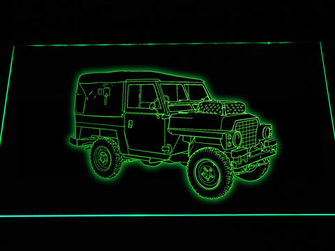 FREE Land Rover Series LED Sign - Green - TheLedHeroes