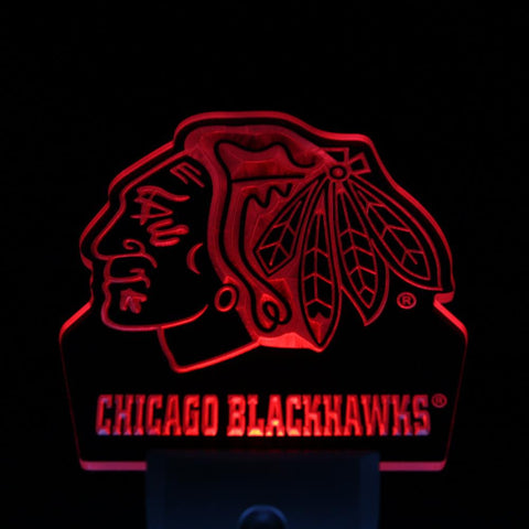 Chicago Blackhawks Night Sensor LED Sign