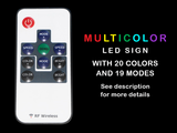 FREE Red LED Sign - Multicolor - TheLedHeroes