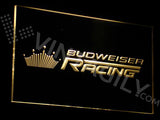 Budweiser Racing LED Sign - Yellow - TheLedHeroes