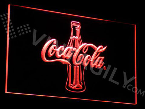 Coca Cola Bottle 2 LED Sign - Red - TheLedHeroes