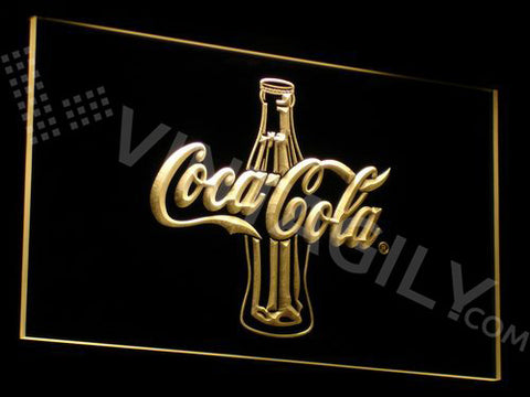 Coca Cola Bottle LED Neon Sign with On/Off Switch 7 Colors to choose