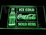 Coca Cola Ice Cold Sold Here LED Sign - Green - TheLedHeroes