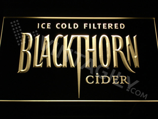Blackthorn LED Sign - Yellow - TheLedHeroes
