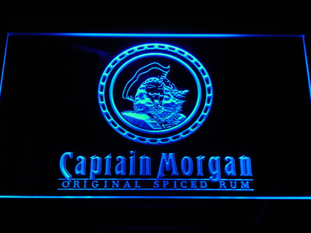 FREE Captain Morgan Spiced Rum LED Sign - Blue - TheLedHeroes