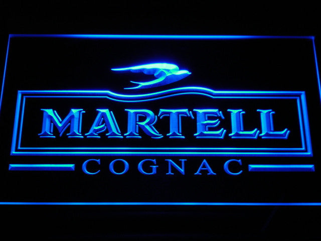 Martell Cognac LED Sign - Blue - TheLedHeroes