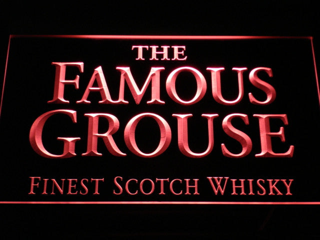 Famous Grouse LED Sign - Red - TheLedHeroes