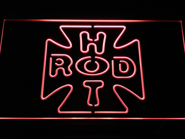 Hot Rod Cross Logo LED Sign - Red - TheLedHeroes