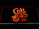 Colt 45 Malt Liquor LED Sign - Orange - TheLedHeroes