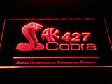 Shelby Cobra AK 427 LED Neon Sign USB - Red - TheLedHeroes
