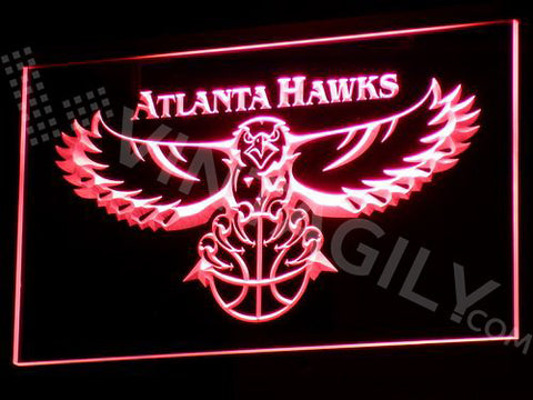 FREE Atlanta Hawks LED Sign - Red - TheLedHeroes