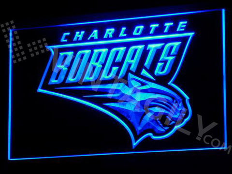 Charlotte Bobcats LED Sign - Blue - TheLedHeroes