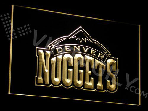 FREE Denver Nuggets LED Sign - Yellow - TheLedHeroes