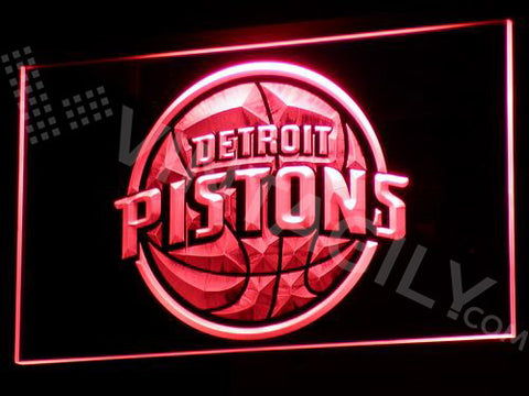 Detroit Pistons LED Sign - Red - TheLedHeroes