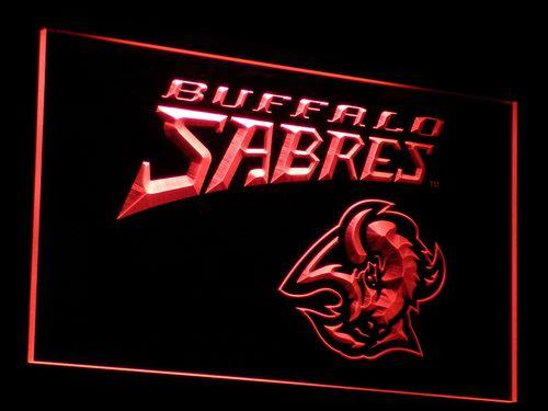 Buffalo Sabres (2) LED Neon Sign USB - Red - TheLedHeroes