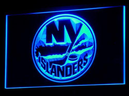 New York Islanders LED Neon Sign USB - Blue - TheLedHeroes