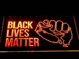 Black Lives Matter LED Sign - Orange - TheLedHeroes