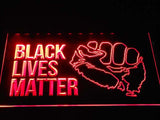 Black Lives Matter LED Sign - Red - TheLedHeroes