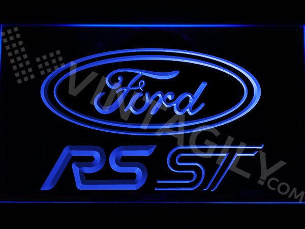 FREE Ford RS/ST LED Sign - Blue - TheLedHeroes