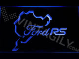 Ford RS N??rburgring LED Neon Sign Electrical - Blue - TheLedHeroes