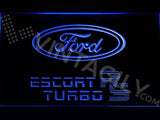 Ford Escort RS Turbo LED Neon Sign Electrical - Blue - TheLedHeroes