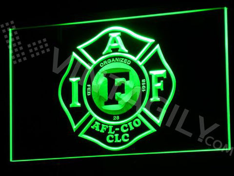 FREE Fire Rescue IAFF FireFighters NR LED Sign -  - TheLedHeroes