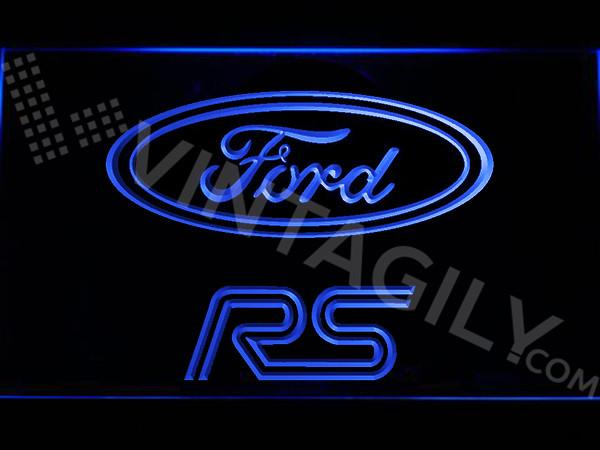 Ford RS LED Neon Sign USB - Blue - TheLedHeroes