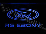 Ford RS Ebony LED Neon Sign Electrical - Blue - TheLedHeroes