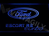 Ford Escort RS Turbo 2 LED Neon Sign Electrical - Blue - TheLedHeroes
