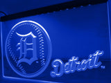 Detroit Tigers Baseball LED Neon Sign USB - Blue - TheLedHeroes