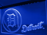 FREE Detroit Tigers Baseball LED Sign - Blue - TheLedHeroes