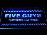 Five Guys LED Neon Sign USB - Blue - TheLedHeroes