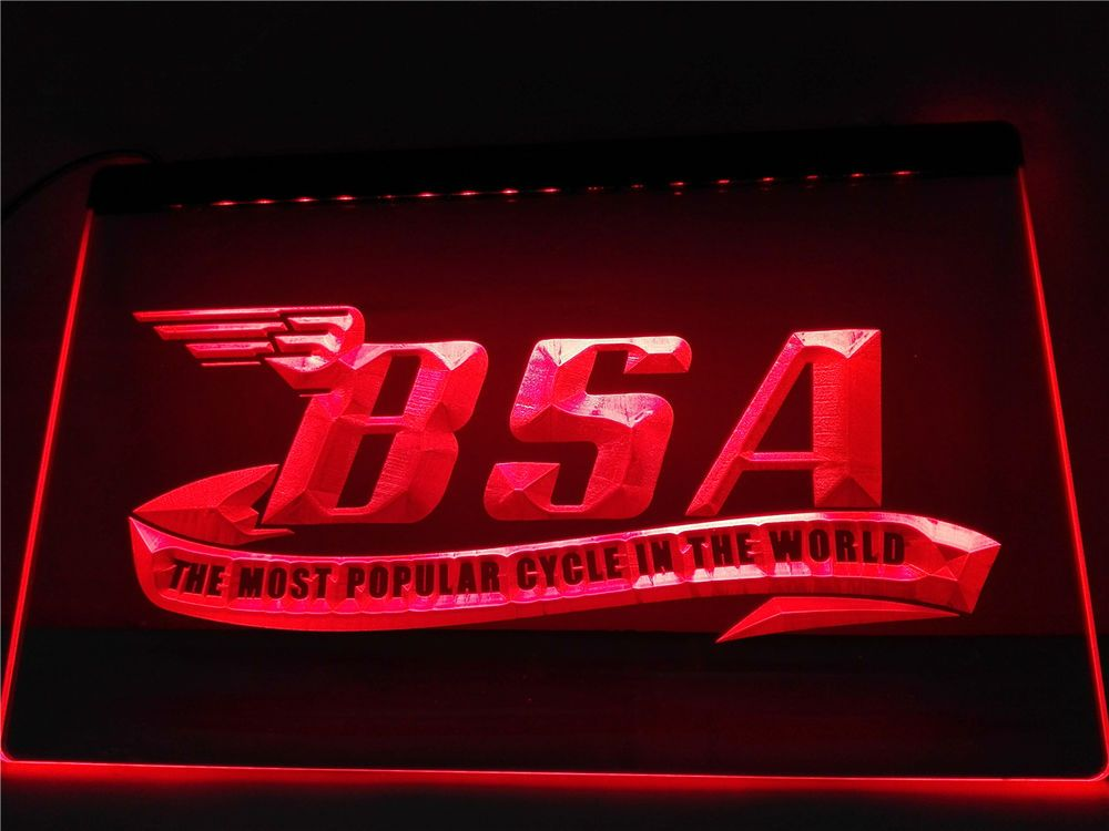 FREE BSA Motorcycles LED Sign - Red - TheLedHeroes