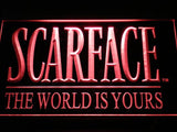 Scarface The World is Yours LED Sign - Red - TheLedHeroes