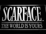 Scarface The World is Yours LED Sign - White - TheLedHeroes