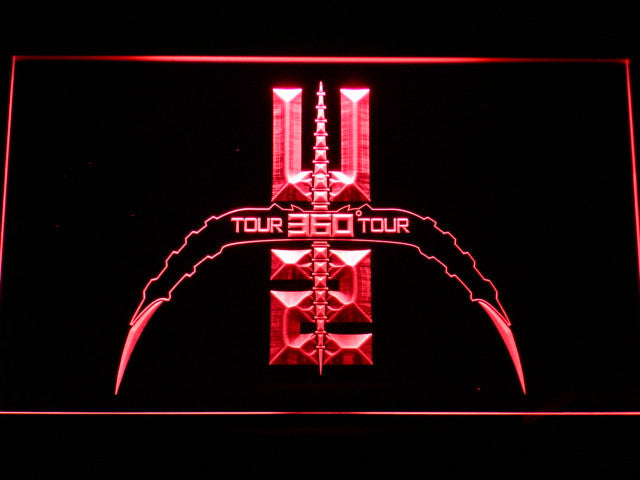 U2 360 Tour LED Sign - Red - TheLedHeroes