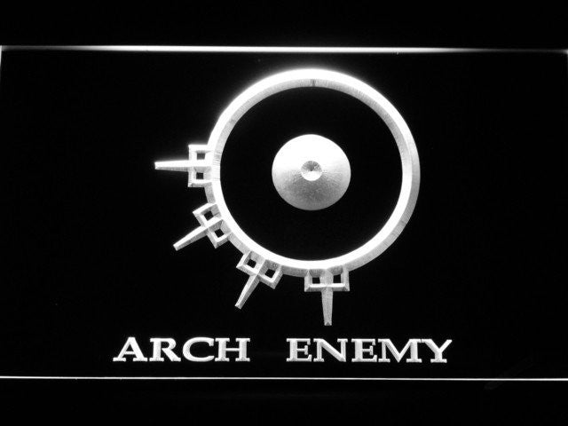 Arch Enemy LED Sign - White - TheLedHeroes
