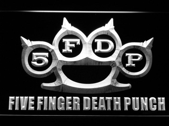 Five Finger Death Punch LED Sign - White - TheLedHeroes