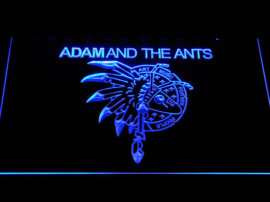 Adam And The Ants LED Neon Sign USB - Blue - TheLedHeroes