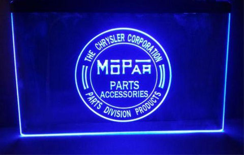 FREE Mopar (2) LED Sign - Blue - TheLedHeroes