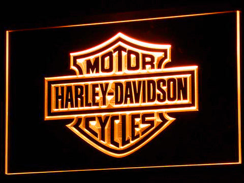 Harley Davidson LED Sign - Orange - TheLedHeroes