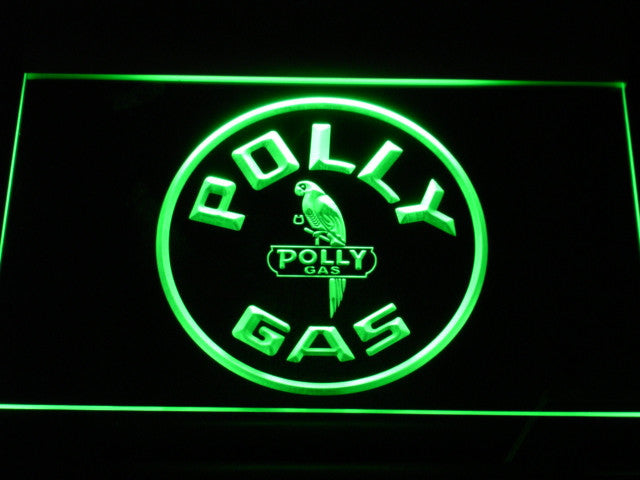 Polly Gas LED Sign - Green - TheLedHeroes