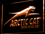 Arctic Cat Snowmobiles Logo LED Sign - Orange - TheLedHeroes